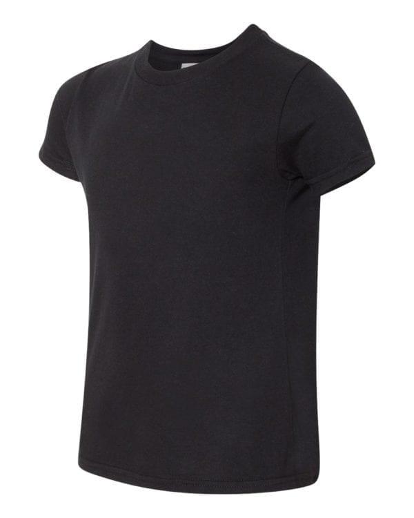 bulk custom shirts american apparel 2201w custom youth t-shirt black