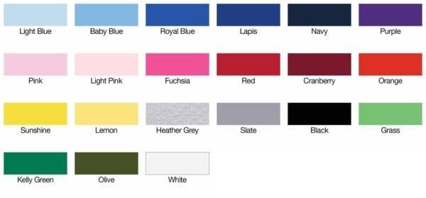 bulk custom shirts american apparel 2201w custom youth t-shirt color swatch