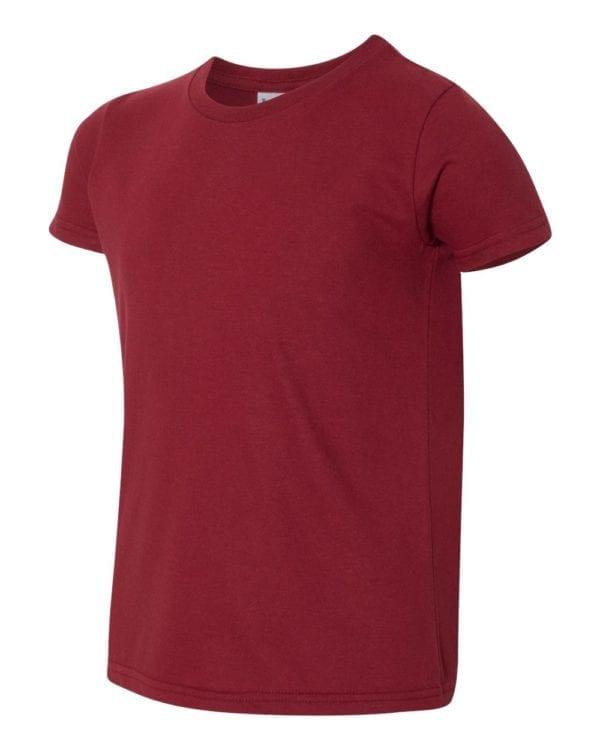 bulk custom shirts american apparel 2201w custom youth t-shirt cranberry