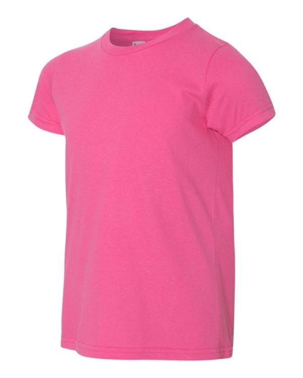 bulk custom shirts american apparel 2201w custom youth t-shirt fuchsia