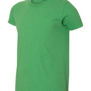 bulk custom shirts american apparel 2201w custom youth t-shirt grass green