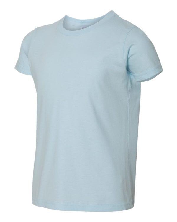 bulk custom shirts american apparel 2201w custom youth t-shirt light blue