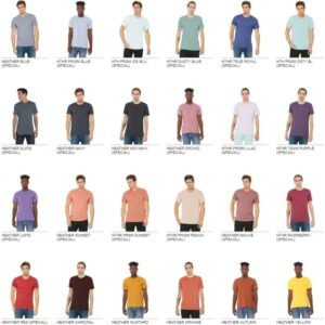 bulk custom shirts bella canvas 3001cvc custom unisex jersey shirt colors pg1