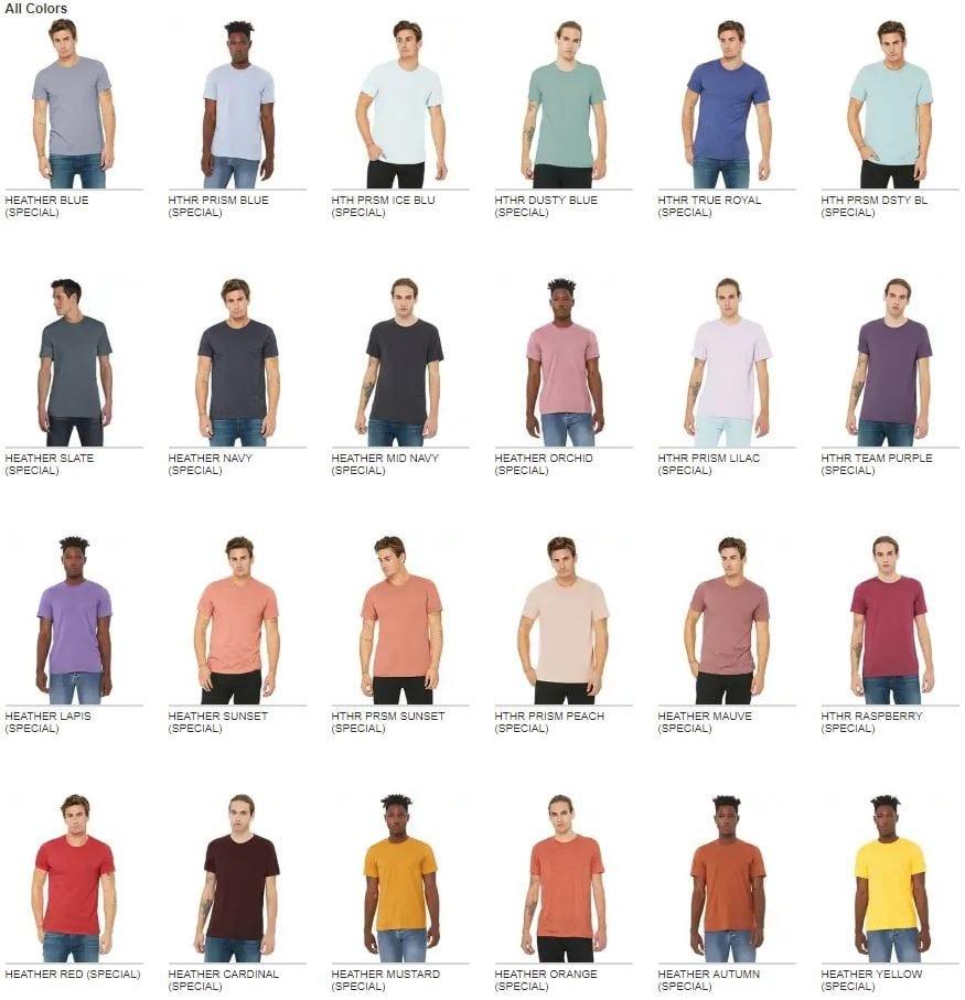 1c4dc6d763507 Bella Canvas 3001CVC Custom T Shirt   Bulk Custom Shirts
