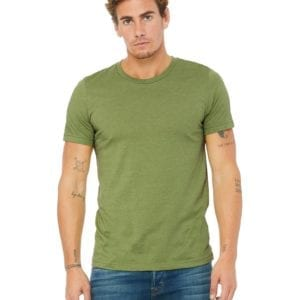 d3b27d54 bulk custom shirts bella canvas 3001cvc custom unisex jersey shirt heather  green (2)