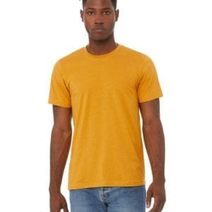 bulk custom shirts bella canvas 3001cvc custom unisex jersey shirt heather mustard