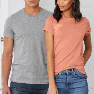 bulk custom shirts bella canvas 3001cvc custom unisex jersey shirt heather tees