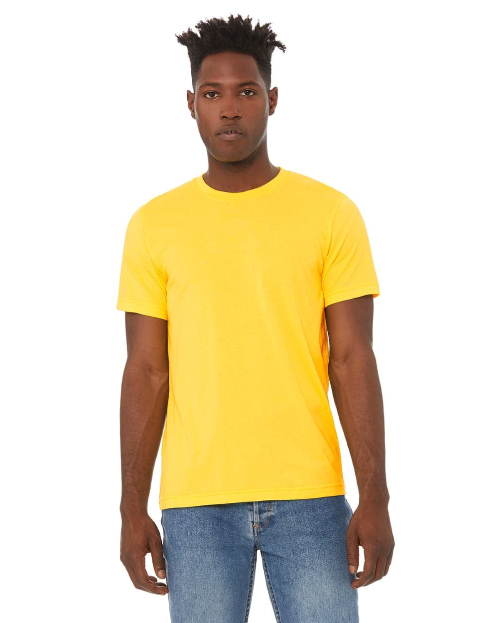 fe8684e8 bulk custom shirts bella canvas 3001cvc custom unisex jersey shirt heather  yellow