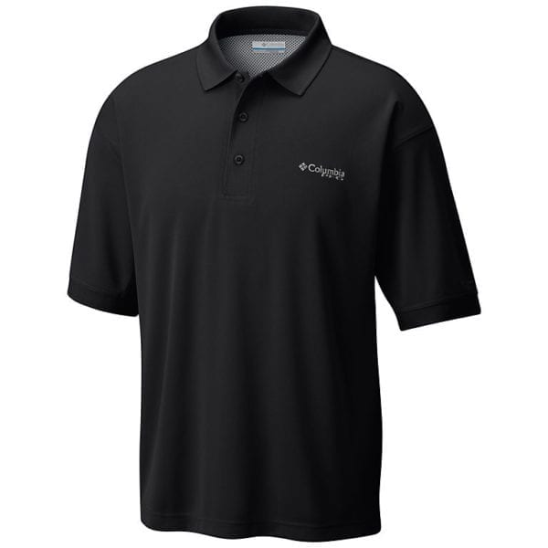 bulk custom shirts colmbia 6016 perfect cast custom pfg polo business work clothes black solo