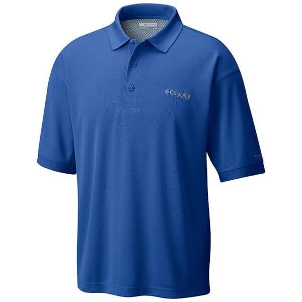 bulk custom shirts colmbia 6016 perfect cast custom pfg polo business work clothes vivid blue