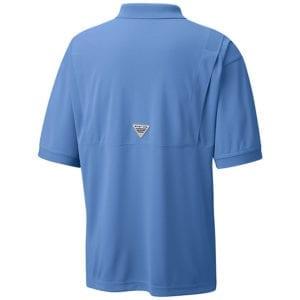 bulk custom shirts colmbia 6016 perfect cast custom pfg polo business work clothes white cap blue back