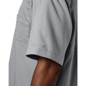 bulk custom shirts columbia 7266 men's custom personalize tamiami II short sleeve shirt cool grey 3