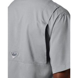 bulk custom shirts columbia 7266 men's custom personalize tamiami II short sleeve shirt cool grey 4