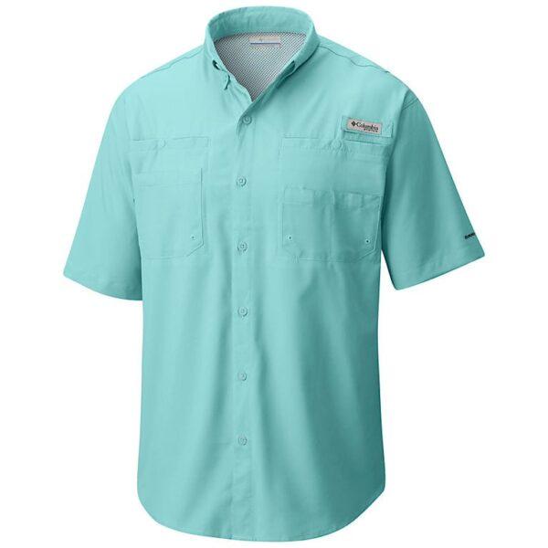 bulk custom shirts columbia 7266 men's custom personalize tamiami II short sleeve shirt gulf stream