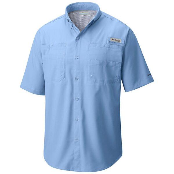 bulk custom shirts columbia 7266 men's custom personalize tamiami II short sleeve shirt sail