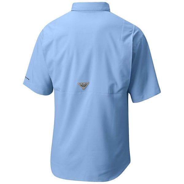 bulk custom shirts columbia 7266 men's custom personalize tamiami II short sleeve shirt sail back