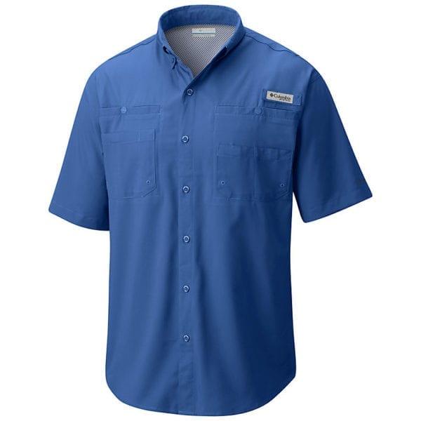 bulk custom shirts columbia 7266 men's custom personalize tamiami II short sleeve shirt vivid blue