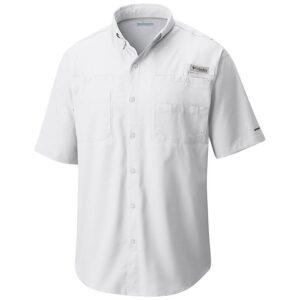 bulk custom shirts columbia 7266 men's custom personalize tamiami II short sleeve shirt white