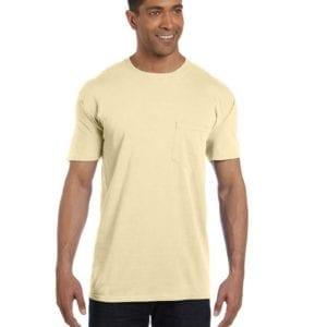bulk custom shirts comfort colors 6030cc heavyweight rs custom pocket t shirt banana