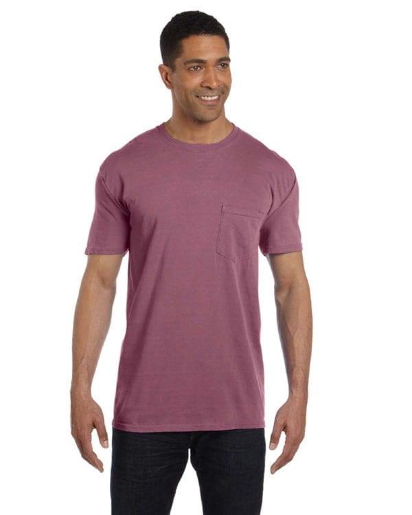 bulk custom shirts comfort colors 6030cc heavyweight rs custom pocket t shirt berry