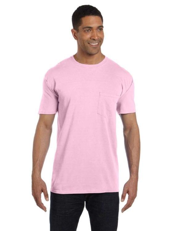 bulk custom shirts comfort colors 6030cc heavyweight rs custom pocket t shirt blossom