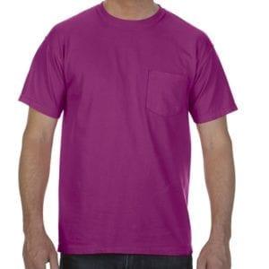 bulk custom shirts comfort colors 6030cc heavyweight rs custom pocket t shirt boysenberry