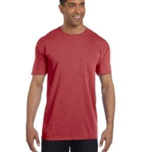bulk custom shirts comfort colors 6030cc heavyweight rs custom pocket t shirt brick