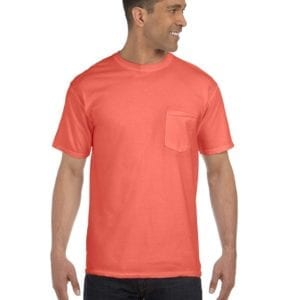 bulk custom shirts comfort colors 6030cc heavyweight rs custom pocket t shirt bridge salmon