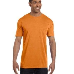 bulk custom shirts comfort colors 6030cc heavyweight rs custom pocket t shirt burnt orange texas