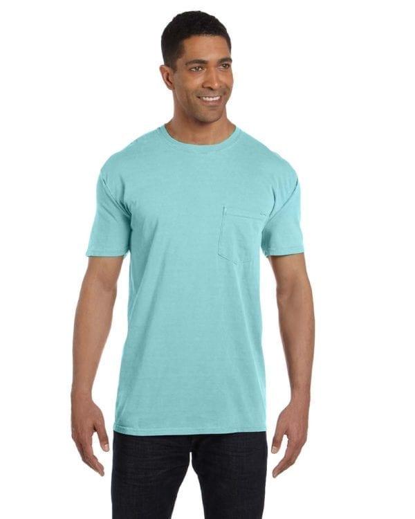 bulk custom shirts comfort colors 6030cc heavyweight rs custom pocket t shirt chalky mint