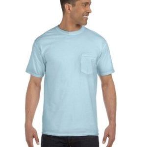 bulk custom shirts comfort colors 6030cc heavyweight rs custom pocket t shirt chambray
