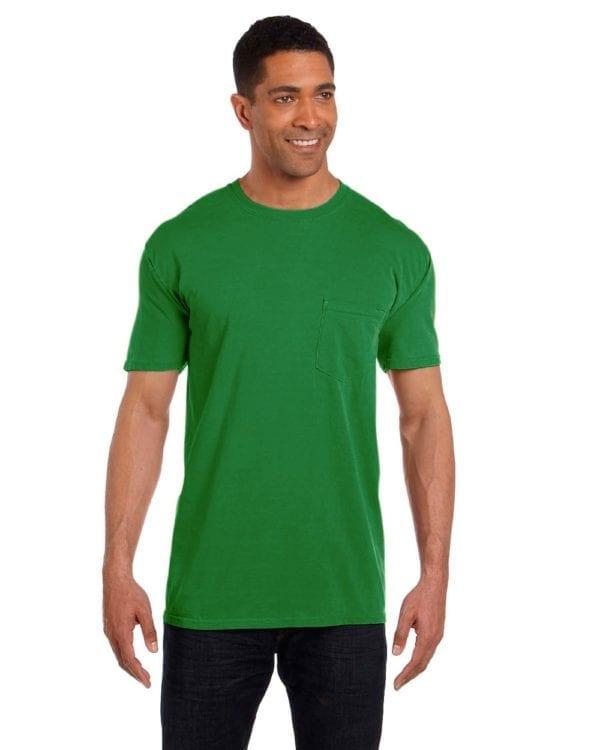 bulk custom shirts comfort colors 6030cc heavyweight rs custom pocket t shirt clover