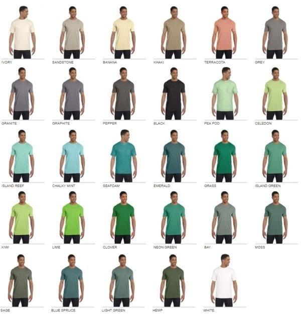 bulk custom shirts comfort colors 6030cc heavyweight rs custom pocket t shirt color3