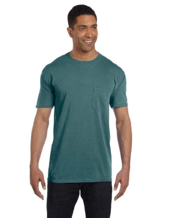 bulk custom shirts comfort colors 6030cc heavyweight rs custom pocket t shirt emerald