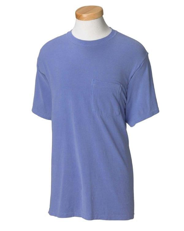 bulk custom shirts comfort colors 6030cc heavyweight rs custom pocket t shirt flo blue