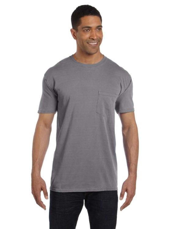 bulk custom shirts comfort colors 6030cc heavyweight rs custom pocket t shirt granite