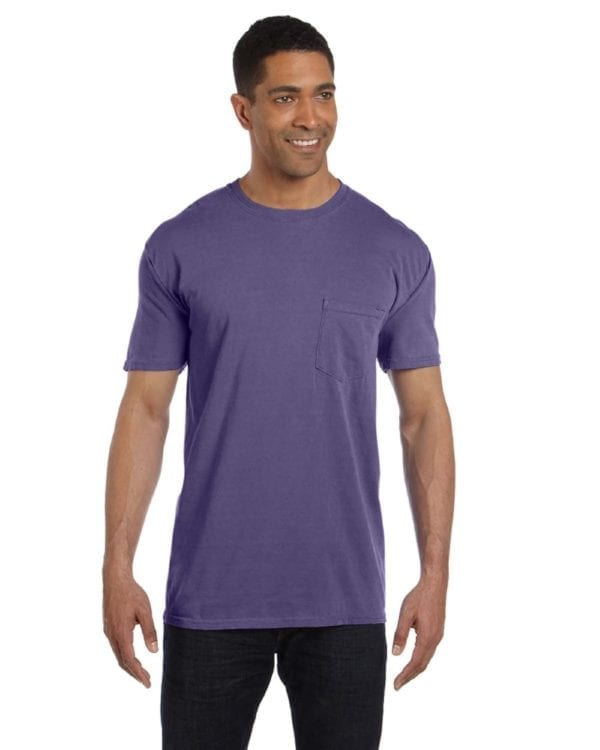 bulk custom shirts comfort colors 6030cc heavyweight rs custom pocket t shirt grape
