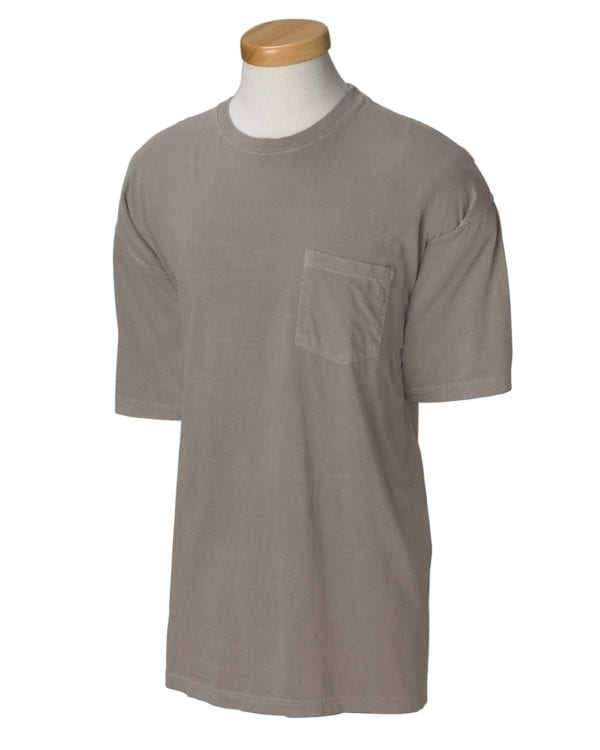 bulk custom shirts comfort colors 6030cc heavyweight rs custom pocket t shirt grey