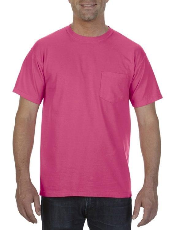 bulk custom shirts comfort colors 6030cc heavyweight rs custom pocket t shirt heliconia