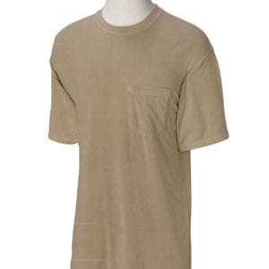 bulk custom shirts comfort colors 6030cc heavyweight rs custom pocket t shirt khaki