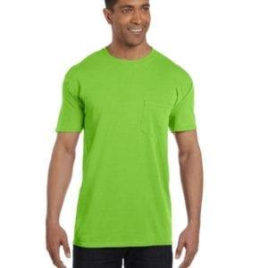 bulk custom shirts comfort colors 6030cc heavyweight rs custom pocket t shirt lime