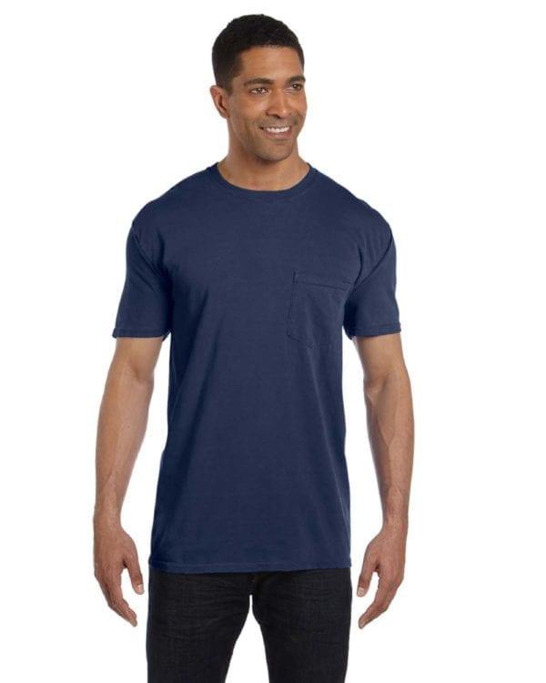 bulk custom shirts comfort colors 6030cc heavyweight rs custom pocket t shirt midnight