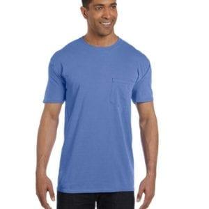 bulk custom shirts comfort colors 6030cc heavyweight rs custom pocket t shirt mistic blue