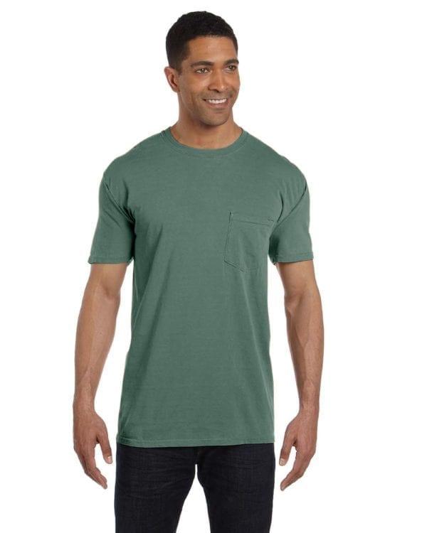 bulk custom shirts comfort colors 6030cc heavyweight rs custom pocket t shirt moss