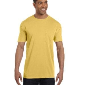 bulk custom shirts comfort colors 6030cc heavyweight rs custom pocket t shirt mustard