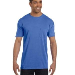 bulk custom shirts comfort colors 6030cc heavyweight rs custom pocket t shirt neon blue