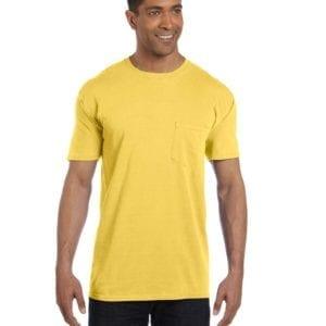 bulk custom shirts comfort colors 6030cc heavyweight rs custom pocket t shirt neon yellow