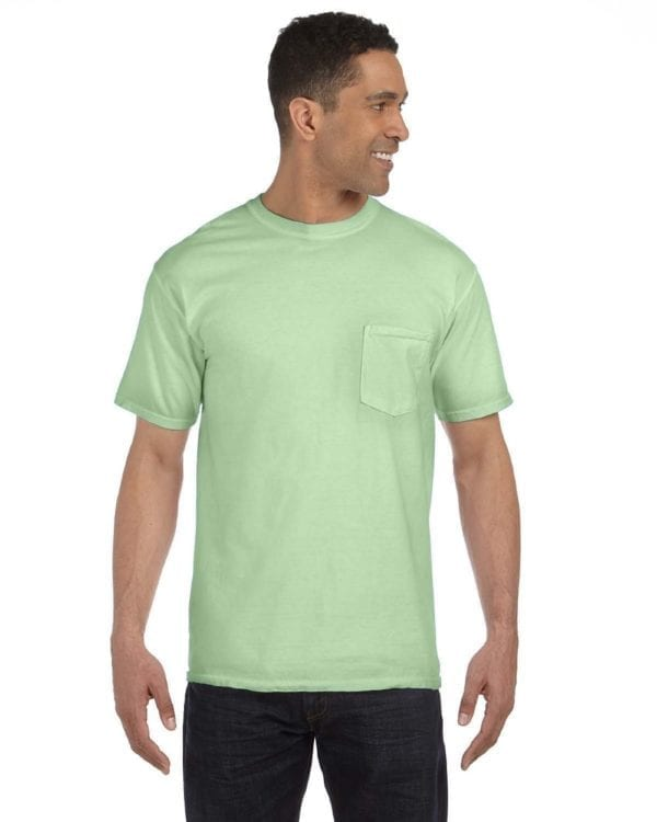 bulk custom shirts comfort colors 6030cc heavyweight rs custom pocket t shirt pea pod