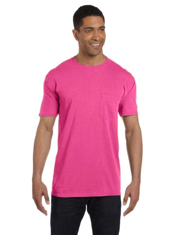 bulk custom shirts comfort colors 6030cc heavyweight rs custom pocket t shirt peony