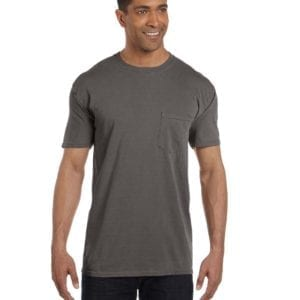 bulk custom shirts comfort colors 6030cc heavyweight rs custom pocket t shirt pepper